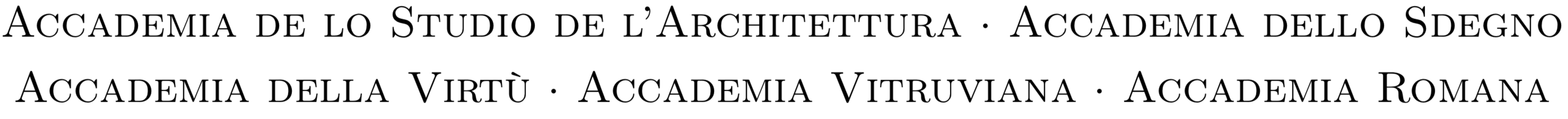 Accademia Vitruviana